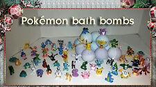 Pokemon Toy inside Poke Ball Bath Bomb Lot of 6 + 1 FREE Lush Bedtime Lavender