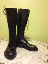 Ann Demeulemeester  Black leather Lace-Up Boots size  women 11US