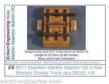 EE 5011 EXC Maerklin Märklin Marklin HO 3R 3 Rail Stubby Straight Track 3600D1/8