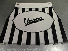 VESPA PX 125 WHITE BLACK CHECKERED WITH FRINGE MUD FLAP MUDFLAP CUPPINI