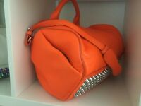 Alexander Wang Rocco Studded Fluorescent Orange Bag. NEW