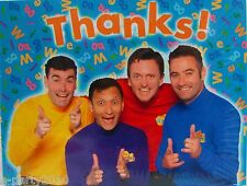 WIGGLES THANK YOU NOTES (8) ~ Birthday Party Supplies Cards Stationery Thanks