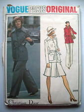 VOGUE Paris Christian Dior Original pattern Size 14 Belted Jacket Skirt Pants