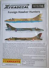 Xtradecal 1/72 X72214 Foreign Hawker Hunters decal set