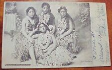 1906 Hula Dancing Girls Hawaii Early Wall Nichols TH - Australia