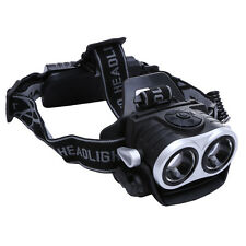 Hot 10000Lm 2x T6 LED USB Rechargeable 18650 Headlamp Headlight Head Torch Lamp