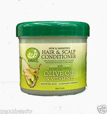 TCB Hair & Scalp Conditioner 10oz Jar - Naturals with  Olive Oil & Vitamin E