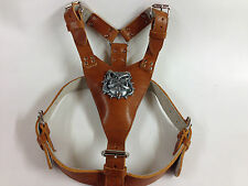 Hand Made Extra Large Heavy Duty Leather Dog Harness English / British Bulldog