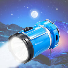 Solar Panel Rechargeable LED Tent Protable Outdoor Use Hand Lamp Blue Lantern