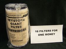 """(16) KEYSTONE GIANT G08P10010D Poly 10 Micron Water Sediment Filters 10"""" X 4.5"""""""