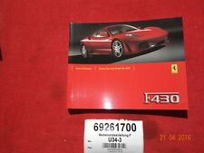 Bedieungsanleitung French FERRARI 430 - owners guide french - ET Nr 69261700