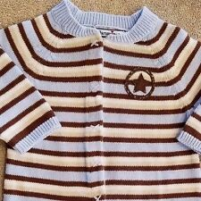 SWEET! HARTSTRINGS 0-3 MONTH STRIPED KNIT COWBOY OUTFIT