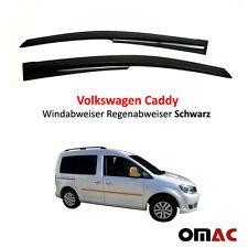 Windabweiser Regenabweiser 2 tlg Schwarz für Volkswagen Caddy III