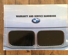 89-99 BMW 3 5 7 SERIES OWNERS HANDBOOK WARRANTY SERVICE BOOK WITH STAMPS