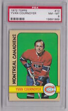 1972/73 TOPPS YVAN COURNOYER MONTREAL CANADIENS CARD #10 PSA 8 CENTERED NM-MT