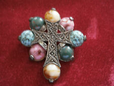 stunning vintage miracle scottish celtic cross brooch or pendant great gift