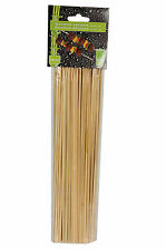 100 BAMBOO SKEWERS WOODEN FOR BBQ KEBAB FRUIT CHOCOLATE FOUNTAIN 25 CM