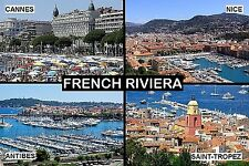 SOUVENIR FRIDGE MAGNET of THE FRENCH RIVIERA FRANCE