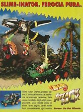 X2181 Hot Wheels - Slime Inator - Attack Pack - Pubblicità 1993 - Advertising