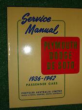 Plymouth Dodge De Soto Factory Service Manual P1-P14 D3-D23 SP5-SP14 1936-1942