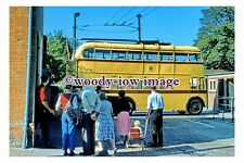 gw0128 - Bournemouth Trolleybus at Christchurch Turntable in 1959 - photograph