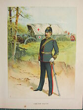 1905 ANTIQUE MILITARY PRINT ~ A MILITARY DOCTOR ~ BRITISH IMPERIAL FORCES