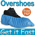 100 Disposable Plastic Blue Anti Slip Shoe Covers Cleaning Overshoes Protective