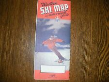vintage Western Ski map and winter vacation quide 1969 NICE folding map