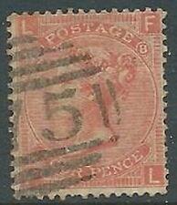 1865 GRAN BRETAGNA USATO EFFIGIE 4 P NUMERO TAVOLA 8 - U2-3