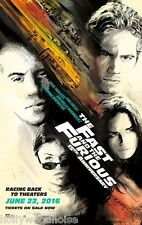 THE FAST AND THE FURIOUS MOVIE POSTER ORIGINAL 15th Ann. DS 27x40 WALKER DIESEL