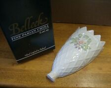 Vintage Belleek parian china  unusual flowered wall bracket / pocket / vase MIB