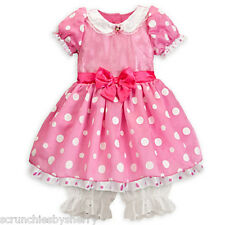 Disney Store Minnie Mouse Dress Costume Halloween Fancy Pink Size 3-6 Months New
