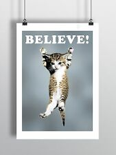 Cat Believe Poster Lego Movie A3 size