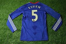 CHELSEA ESSIEN SIGNED 2010/2011 MATCH WORN YES FOOTBALL SHIRT JERSEY HOME ADIDAS