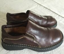 BORN Women's 39 8 M Brown Leather Comfort Loafer Slip On Shoes