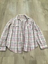 Pink, Purple Checked Long Sleeves Shirt, Size 10