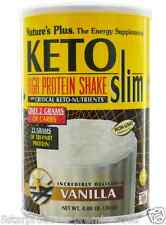 NEW NATURE'S PLUS KETO SLIM HIGH PROTEIN SHAKE VANILLA VEGETARIAN GLUTEN FREE