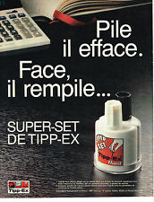 PUBLICITE ADVERTISING 104  1986  TIPP-EX  FLUID  effaceur