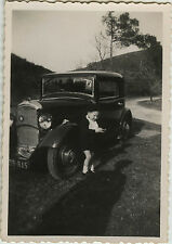 PHOTO ANCIENNE - VINTAGE SNAPSHOT - VOITURE AUTOMOBILE ENFANT OMBRE - CAR SHADOW