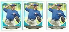 3 * AARON SANCHEZ * 2013 BOWMAN CHROME REFRACTOR RC LOT