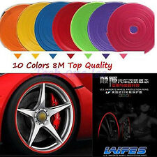 Car Tuning Wheel Rim Hub Edge Protector Vehicle Strip Guard Tire Line 4 RIMS