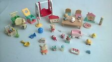 Sylvanian Families Bundle Of Nursery School Accessories House Hotel Kids Room