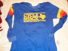 80s L fit VTG Houston Texas Cycle shack cycling rainbow shirt Soft thin bicycles