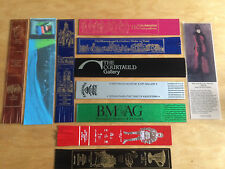 11 Bookmarks - selection of leather and some card  - vgc