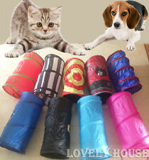 Foldable Pet Cat Dog Kitten Puppy Fun Tunnel Folding Toys Pop Out Multicolor