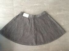 NEW - NEXT, size 8, black full circle mini denim skirt