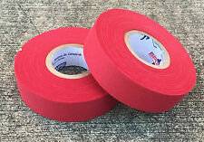 "2 Rolls of Sports Tape Baseball Bat Grip 1""x82' Red"