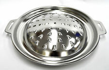 "Korean BBQ Stainless Steel Grill Barbecue Stove Top Pan 12"" Indoor Outdoor"