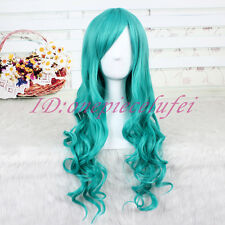 Sailor Moon Kaiou Michiru Neptune/Bleach Neliel long wavy green Cosplay wig