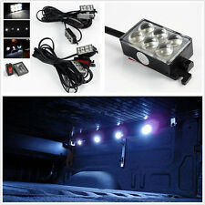 8X 48-White LED Cargo Area Bed Rail Projector Lens Light Kit System Pickup/Truck